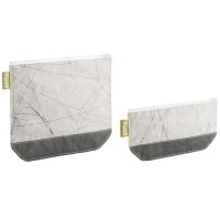 TRUDEAU Lot de 2 pochettes snack Fuel en plastique - Blanc