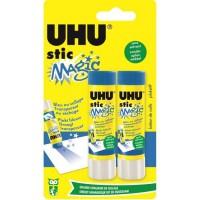UHU Lot de 2 Sticks Magic Bleu 8,2 g