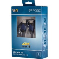 UNDER CONTROL Cable HDMI PS4 - 4K - 3M - Bleu / Noir