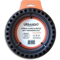URBANGO Lot 2 pneus plein - Alvéolé - Haute qualité - Anti-Crevaison - Compatible XIAOMI MIJA/M365