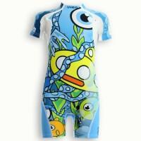 UVEA Combinaison maillot de bain kidsguard anti UV 80+ Manly - Taille 9/18 mois - Imprimé yellowsubmarine