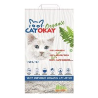 VADIGRAN Litiere organique CatOkay - 20L - 11 kg - Pour chats