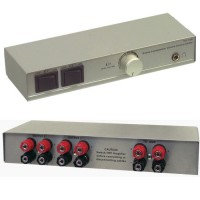 VALUELINE SPPROFSWITCH-1 Switch - Commutateur haut-parleur 2x - 4x banana femelle - Argent