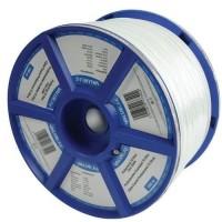 VALUELINE VLSR40903R100 Câble coaxial 6.8 mm en bobine 100 m - Blanc