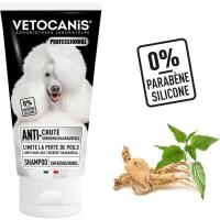 VETOCANIS Shampoing anti-chute de poils - 300 ml - 0% de Parabene 0% de Silicone - Pour chien