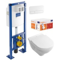 VILLEROY & BOCH Pack WC sans bride O.Novo DirectFlush + Bati Support Viconnect