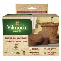 VILMORIN 24 pastilles de fibre de coco compressée - 3,5 cm