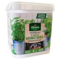 VILMORIN Seau Terreau spécial pots et jardinieres plantes aromatiques 5 L