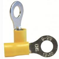 VOLTMAN Boîte de 10 cosses rondes - Section 6 mm pour fils de 2,5 a 6 mm - Jaune