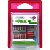 WAGO Pack 5 bornes - 222 - 5 entrées