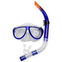 WAIMEA Kit masque et tuba de plongée adulte - Bleu