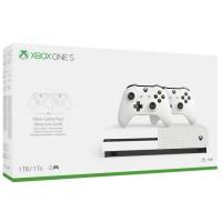 Xbox One S 1To 2 manettes + 14 jours d'essai au Xbox Live Gold et 1 mois d'essai au Game Pass