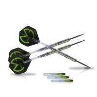 XQ Max Fléchettes de 25 grammes Michael van Gerwen Green Demolisher - 70% tungstene - Pointe acier