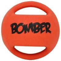 ZEUS Balle en caoutchouc Bomber 17,8 cm - Orange et noir - Pour chien