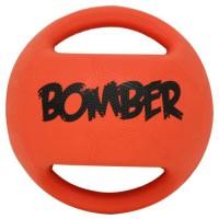 ZEUS Balle Mini Bomber 11,4 cm - Orange et noir - Pour chien