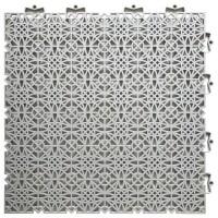 D-C-FLOOR Dalles de sol clipsables - Polypropylene - 38 x 38 x 1 cm - Gris clair