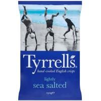 TYRRELL'S Chips de pommes de terre Lisses Sachet de Légerement salées au sel de mer - 150 g