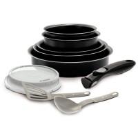 BACKEN EASYCOOK Batterie de cuisine 10 pieces - Ø 16-18-20-22-26 cm - Noir