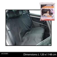 DOGI Couvre coffre de voiture 120x148 cm - Noir - Pour chien