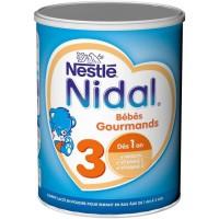 NIDAL 3 Bébés Gourmands Lait en poudre 3eme age 800G