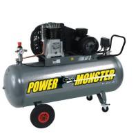 MECAFER Compresseur 150 L 3HP Bicylindre courroie 10 bars Semi Pro PowerMonster