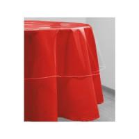 SOLEIL D'OCRE Nappe de table ronde Cristal 180 cm transparent