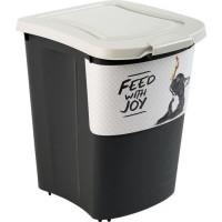 ROTHO Container a croquettes verseur Archies avec pelle 38 L - Pour chien et chat