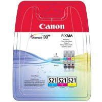 CANON Pack 3 Cartouches CLI-521 C/M/Y - 3 couleurs - pour impression Photo
