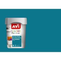AVI Peinture murale toutes pieces - Bleu Bonheur satin - 0,5 L