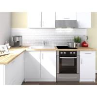 OBI Cuisine complete d'angle L 280 cm - Blanc mat