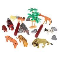 Lot de figurines animaux de la jungle