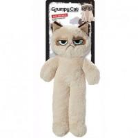 GRUMPY CAT Jouet en peluche grincheux floppy - Hauteur 37cm - Beige - Pour chien