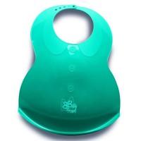 BEBE ANGEL Bavoir Plastique Extra-Souple Coloris Turquoise