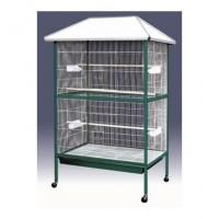 AIME Voliere - Blanc et vert - 95 x 70 x 170 cm - Accessoires inclus - Pour oiseaux