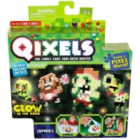 QIXELS - Mini kit 4 créations GLOW - Theme Zombies