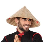 ATOSA Chapeau de paille oriental - Beige