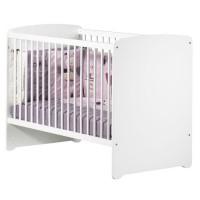 BABY PRICE Lit bébé 120x60 - 3 positions - Blanc - New Basic
