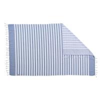 DONE Fouta de plage Hammam Cairo - 100% coton - 300 gr/m² - 90x160 cm - Bleu