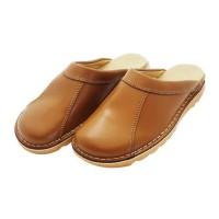 HTC Chaussures Clack routier en cuir - Mixte - Marron