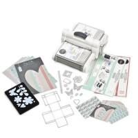 SIZZIX Kit de démarrage scrapbooking My life handmade - Blanc et Gris - Format A4