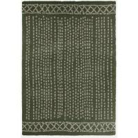 CONTINENTAL Tapis de salon laineux 120X170 cm Vert/Beige