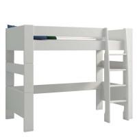 SFK Lit mezzanine évolutif enfant - MDF laqué blanc - 90 x 200 cm