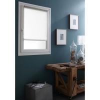 DOMDECO Store enrouleur tamisant sans perçage - Blanc - 52x170 cm