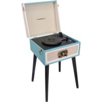 MADISON 10-5560MA Meuble tourne-disques - Bluetooth, USB & Tuner FM - Meuble vintage - Bleu