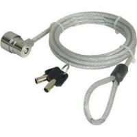 Câble de sécurité a câble métallique avec serrure a clé pour PC Portable (Longueur: 1.8m) - PORT CONNECT