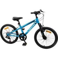 MERCIER Vélo VTT 7/9 ans 20'' Cadre Slooping 6 vitesses - Mixte - Bleu