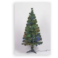 Sapin vert de Noël en PVC - H 180 cm - Fibre optique multicolore - 24 V lumiere animée