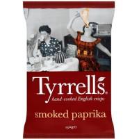 TYRRELL'S Chips de pommes de terre Lisses Sachet de Paprika - 150 g