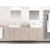 OLGA Salle de bain L 150 cm San Remo - double vasque avec miroir