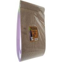 AIME Griffoir Carton - Planche a gratter 100% recyclé, en forme d'aubergine - 40 x 22 x 9 cm - Pour Chat
